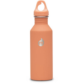 MIZU M5 Bottle with Peach Loop Cap 500ml orange